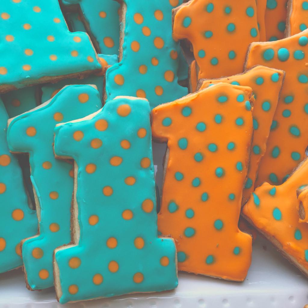 First Birthday Cookies | wearenotmartha.com