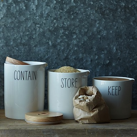West Elm Labeled Kitchen Storage Containers