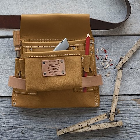 West Elm Heritage Leather Nail + Tool Bag