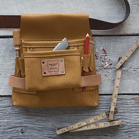 West Elm Heritage Leather Nail + Tool Bag