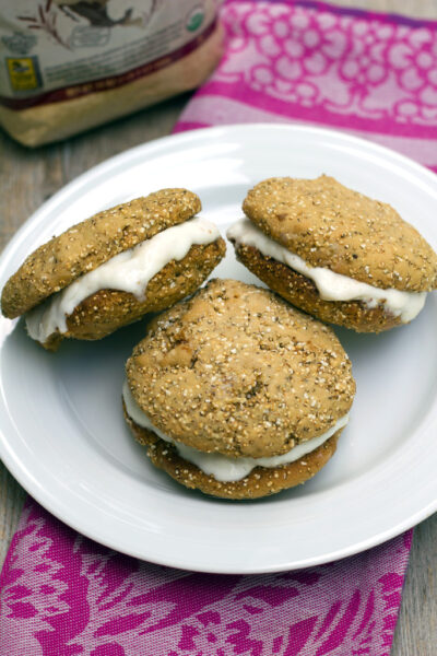 Amaranth Frozen Yogurt Sandwiches