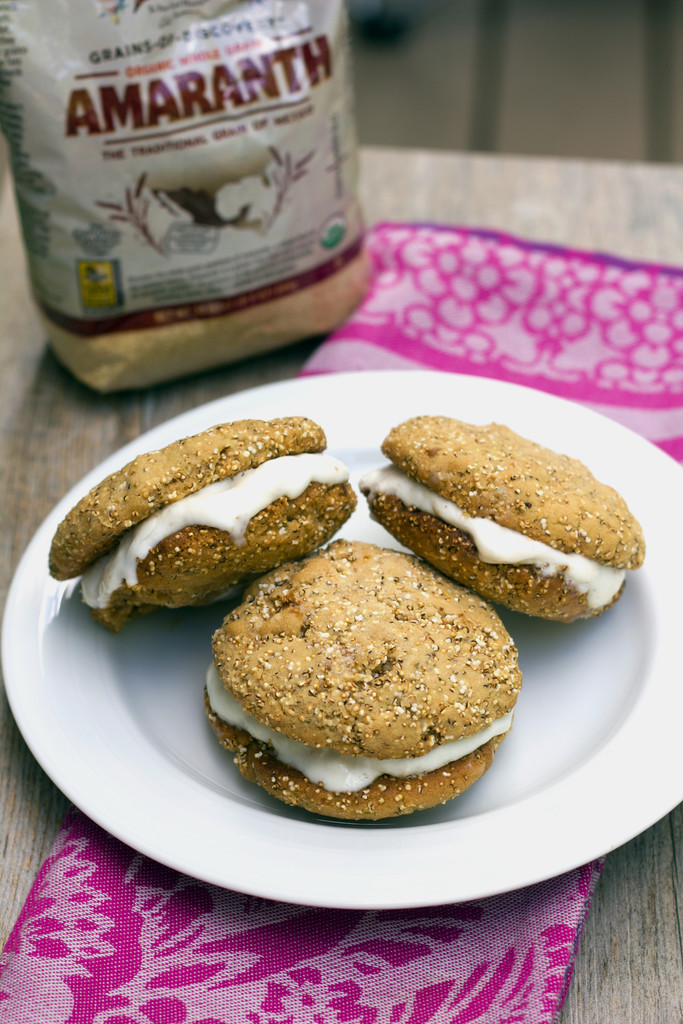 Amaranth Frozen Yogurt Sandwiches 3