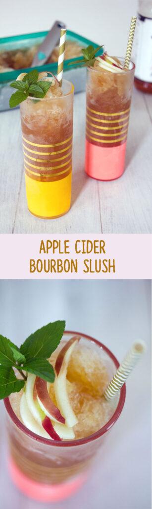 Apple Cider Bourbon Slush -- Who says you can't enjoy slush in the fall? | wearenotmartha.com