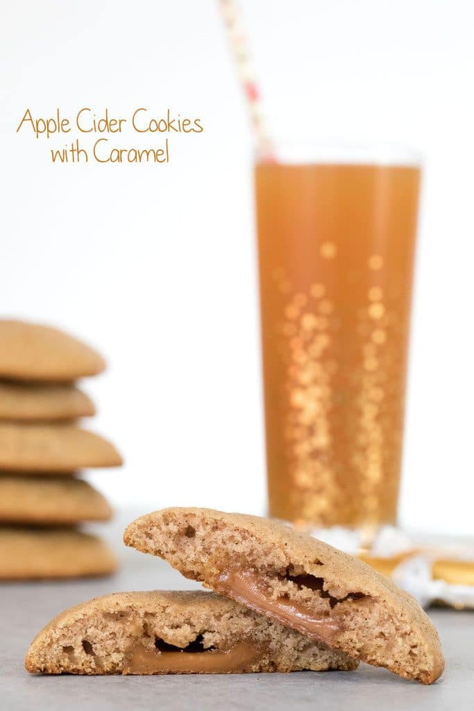 Apple Cider Cookies are soft, muffin-like cookies stuffed with a little caramel surprise | wearenotmartha.com