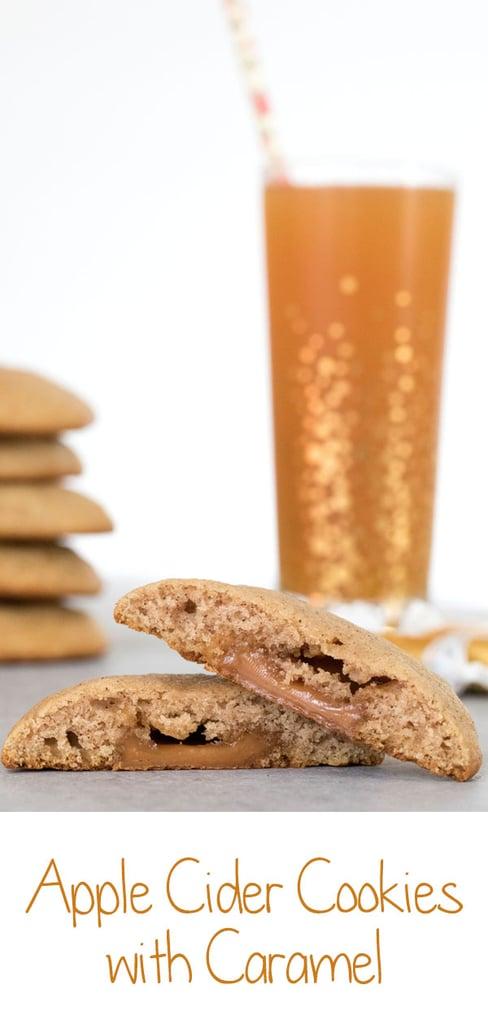 Apple Cider Caramel Cookies -- Apple Cider Cookies are soft, muffin-like cookies stuffed with a little caramel surprise | wearenotmartha.com