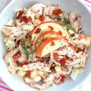 Apple, Fennel and Bacon Chicken Salad -- This apple, fennel, and bacon chicken salad has all the components necessary for the ideal chicken salad and makes the most delicious lunch   wearenotmartha.com