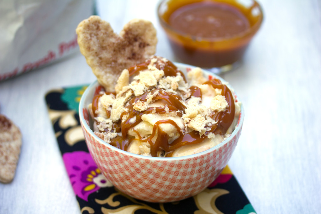 Apple Pie Ice Cream with Cider Caramel and Pie Crust Cookies - We are ...