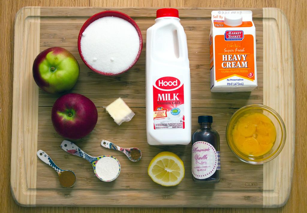 Apple Pie Ice Cream Ingredients