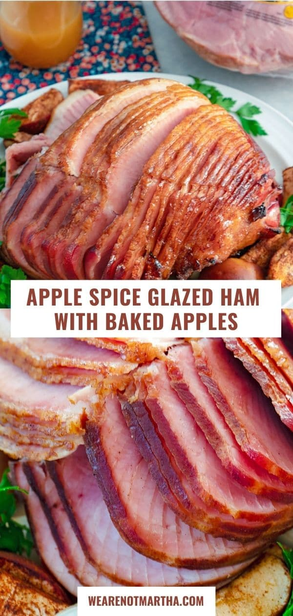 Apple Spice Glazed Ham with Baked Apples