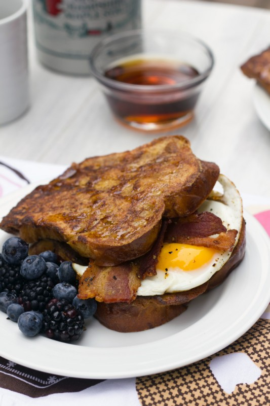 Autumn French Toast Egg Sandwich