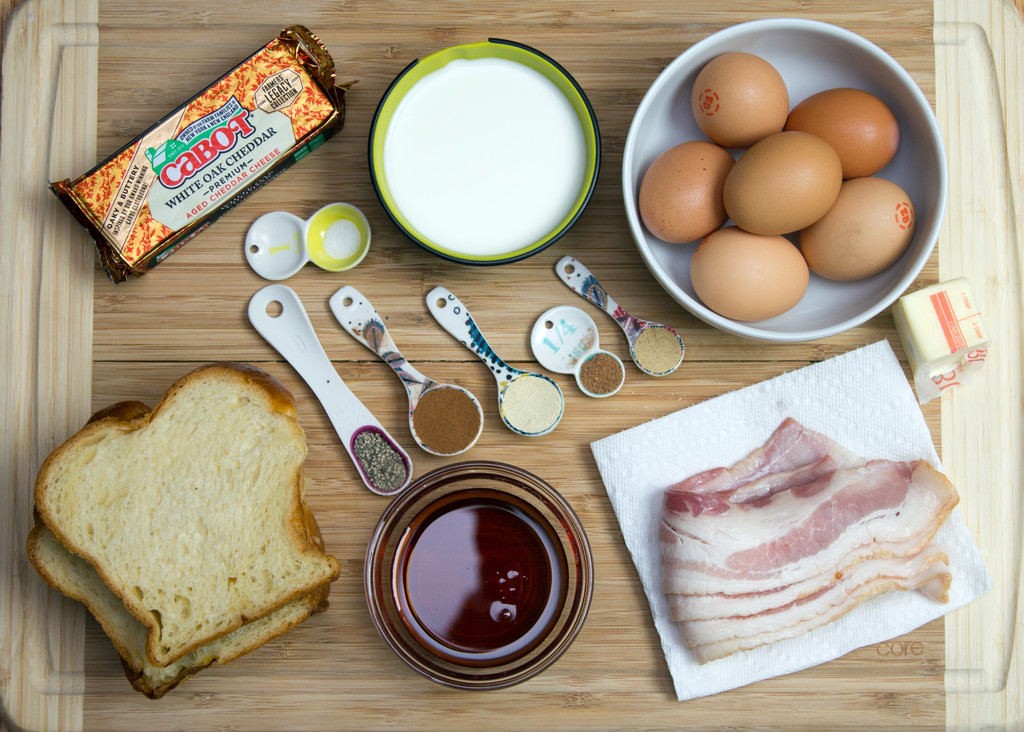 Autumn French Toast Egg Sandwich Ingredients | wearenotmartha.com