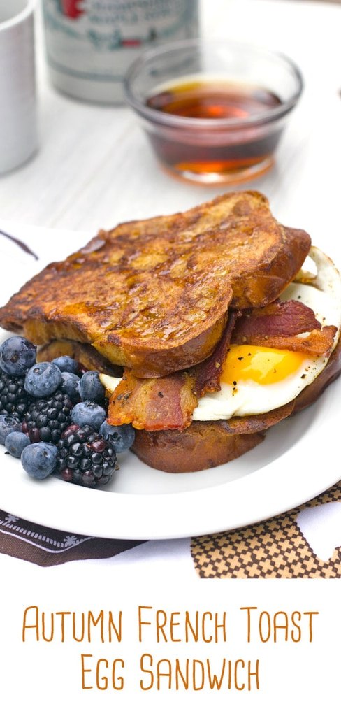 Autumn French Toast Egg Sandwich