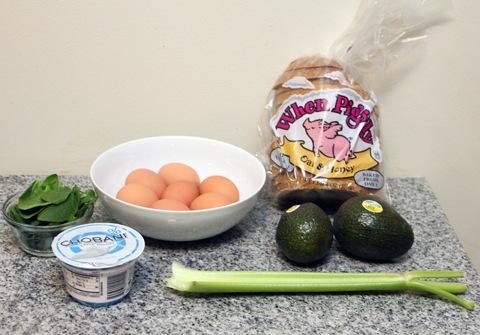 Avocado Spinach Egg Salad Ingredients   wearenotmartha.com