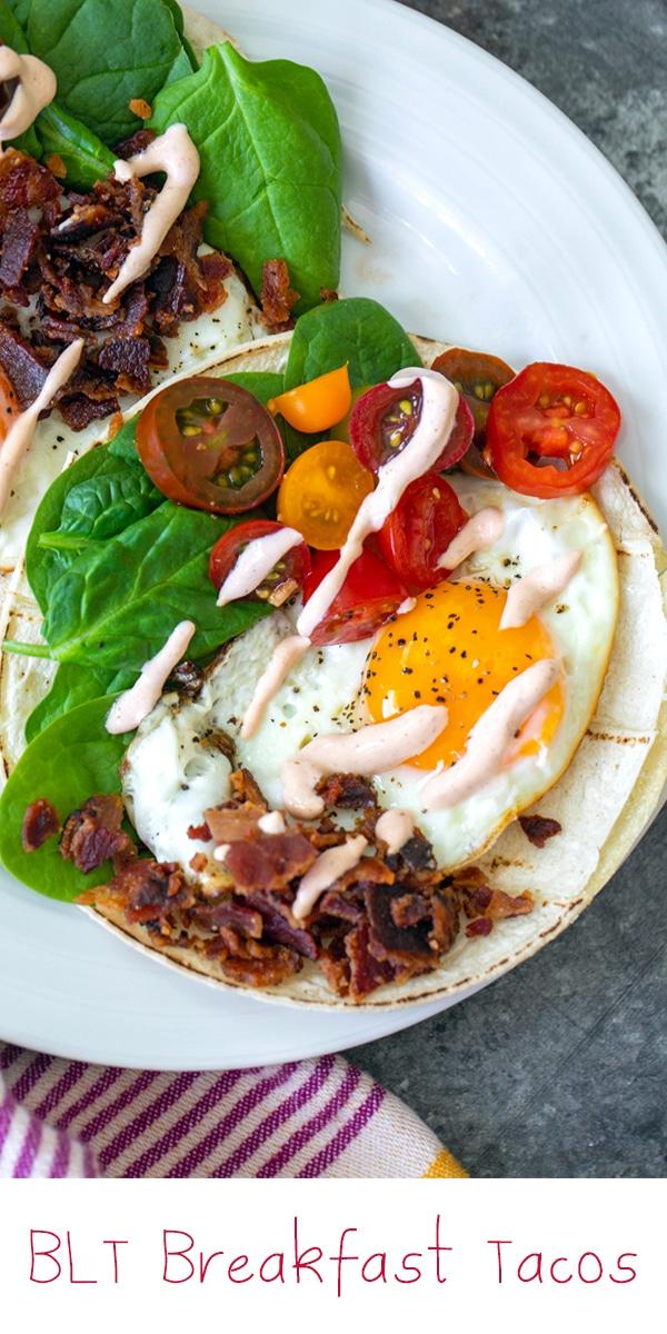 BLT Breakfast Tacos