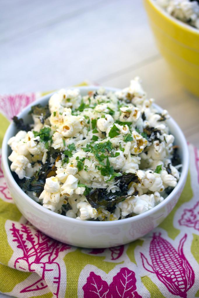Baked Kale Parmesan Popcorn 11