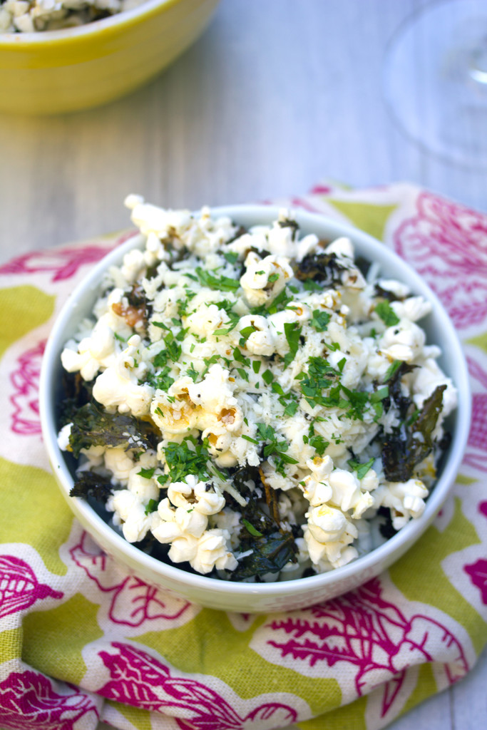 Baked Kale Parmesan Popcorn 14