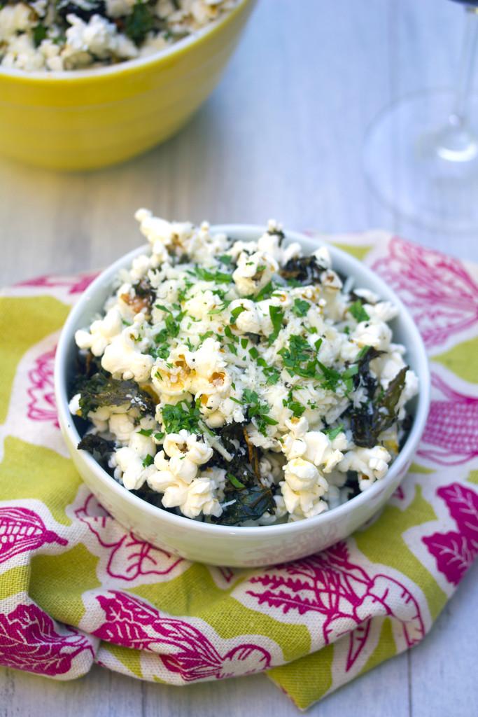 Baked Kale Parmesan Popcorn 15