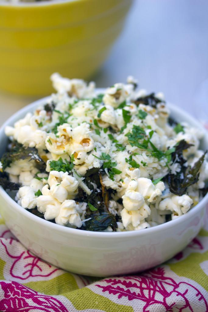Baked Kale Parmesan Popcorn 8