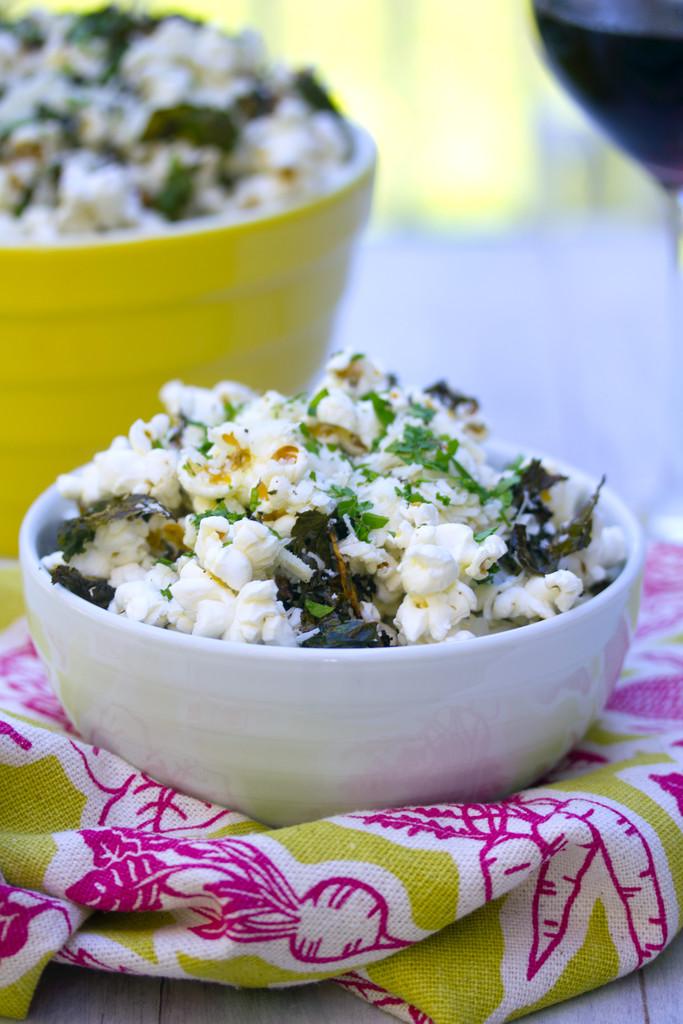 Baked Kale Parmesan Popcorn 9