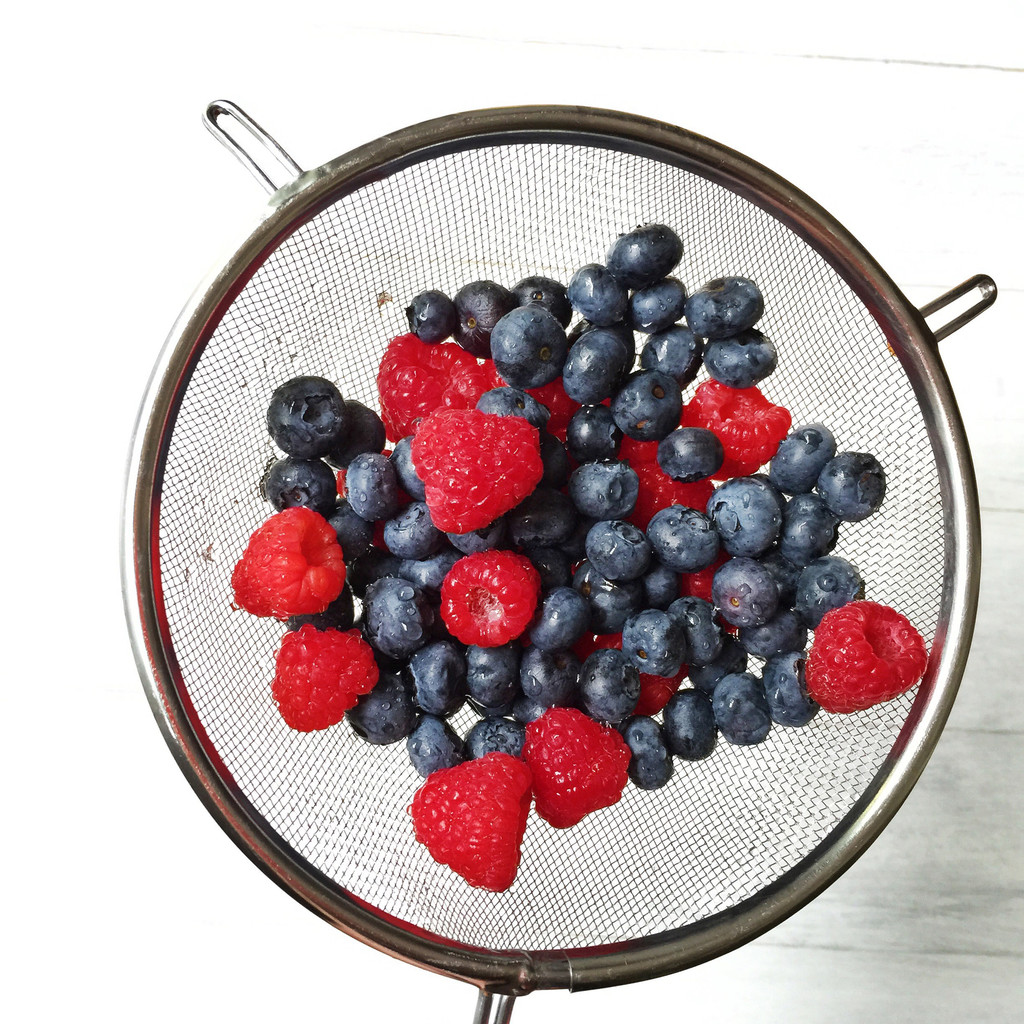 Rasberries and Blueberries | wearenotmartha.com