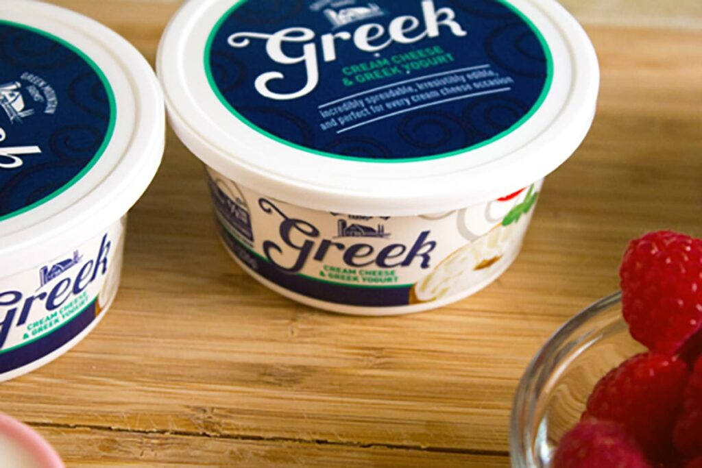 Image of Greek cream cheese containers