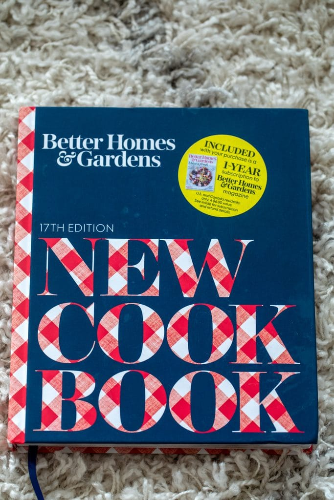 Overhead view of Better Homes & Gardens New Cook Book 17th edition