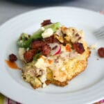 Cornmeal Biscuits with Chorizo Gravy -- The breakfast I never knew I loved | wearenotmartha.com