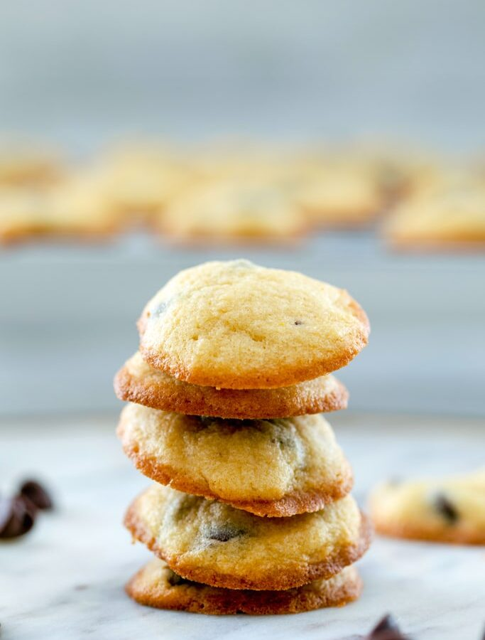 Bite-Size Chocolate Chip Cookies -- These Bite-Size Chocolate Chip Cookies take just 20 minutes to make and will never make you feel guilty about eating more than one... Mini cookies will change your life | wearenotmartha.com