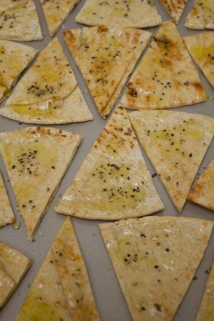 Black Peppercorn Pita Chips    wearenotmartha.com