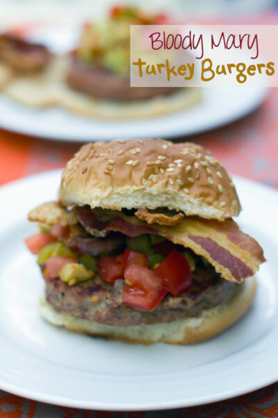 Bloody Mary Turkey Burgers