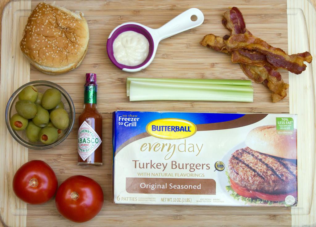 Bloody Mary Turkey Burgers Ingredients