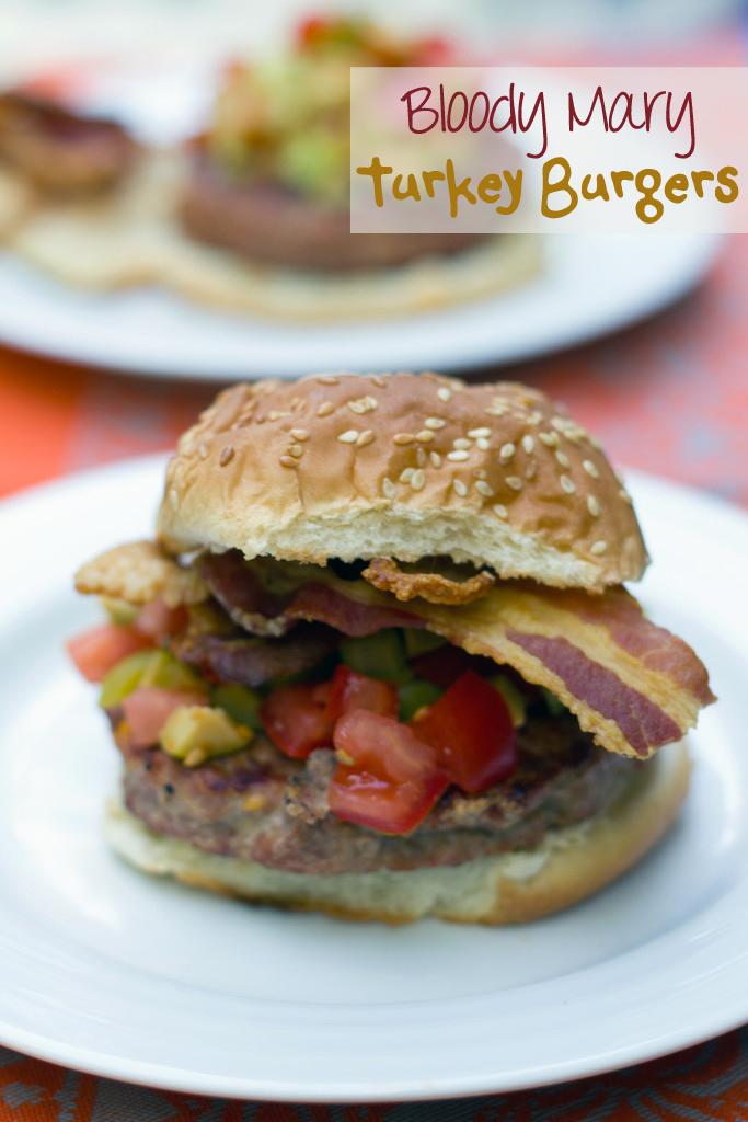 Bloody Mary Turkey Burgers