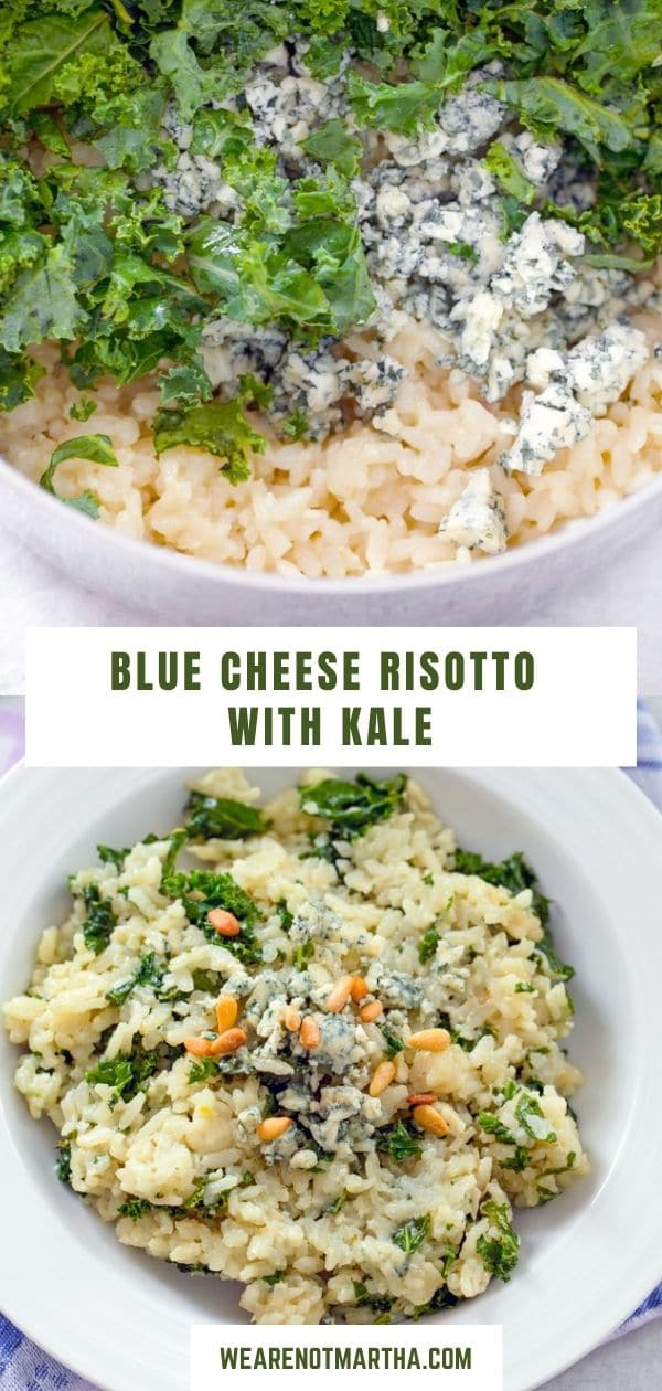 Blue Cheese Risotto with Kale