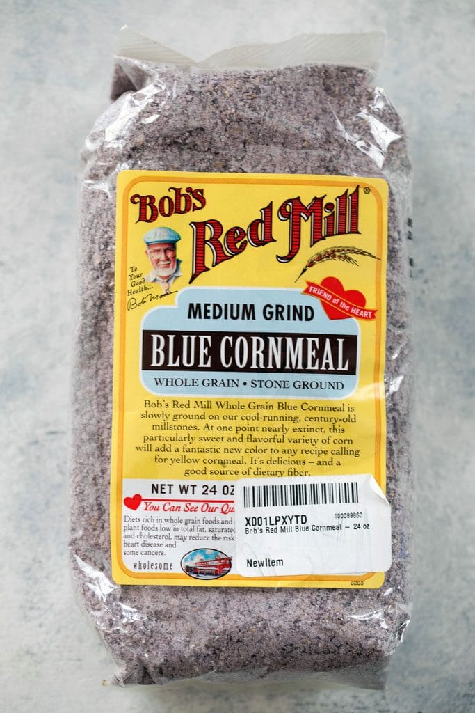 Bag of Bob's Red Mill Blue Cornmeal