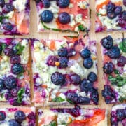 "Blueberry and Blue Cheese Pizza -- An unlikely combination of ""blue foods"" makes for an outstanding dinner with this easy-to-make Blueberry and Blue Cheese Pizza. It's a flavor duo you need to try! 