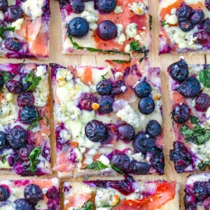 """Blueberry and Blue Cheese Pizza -- An unlikely combination of """"blue foods"""" makes for an outstanding dinner with this easy-to-make Blueberry and Blue Cheese Pizza. It's a flavor duo you need to try! 
