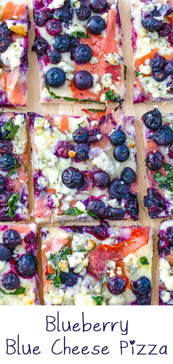 Blueberry and Blue Cheese Pizza