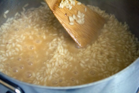 Breakfast Risotto Rice Chicken Broth Boiling.jpg