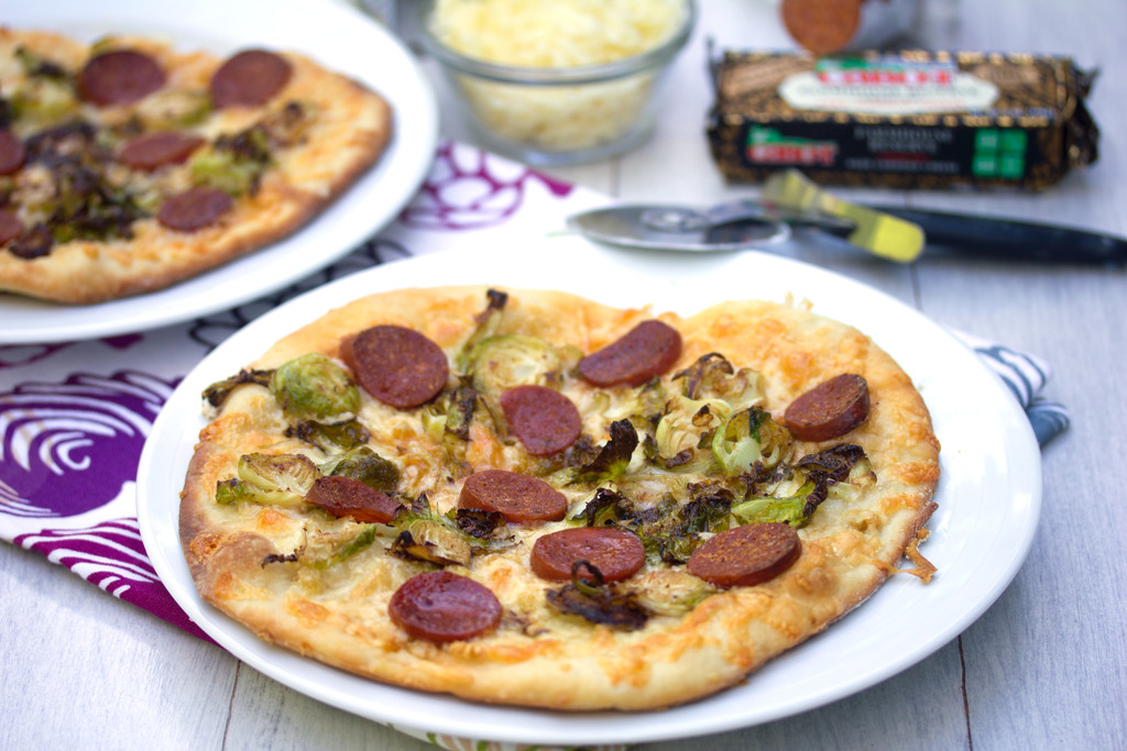 Brussels Sprouts and Pepperoni Flatbread 13