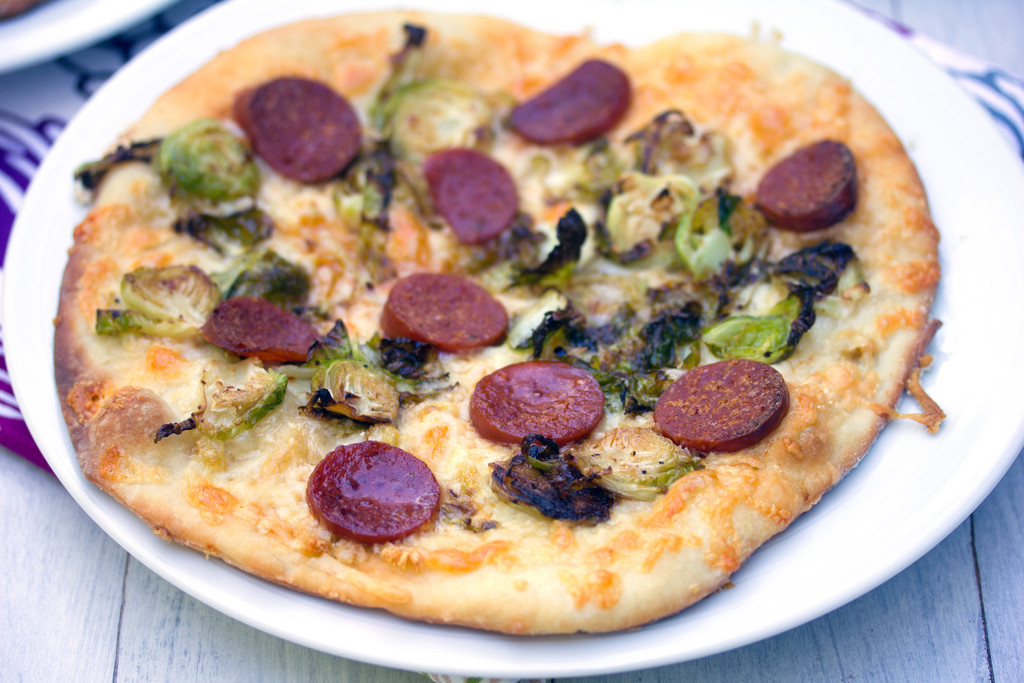 Brussels Sprouts and Pepperoni Flatbread 16