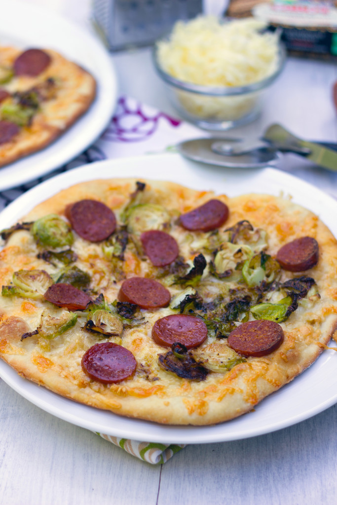 Brussels Sprouts and Pepperoni Flatbread 2