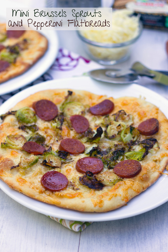 Brussels Sprouts and Pepperoni Flatbread
