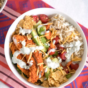Buffalo Chicken Burrito Bowl