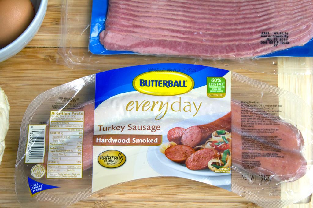 Butterball Meat Lovers' Breakfast Pizza Turkey Sausage