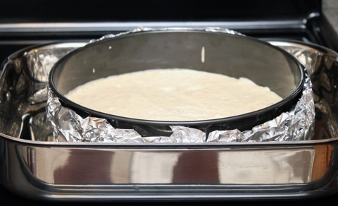 how to use water bath for cheesecake