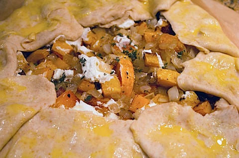 Butternut Squash, Onion, and Goat Cheese Galette | We are not Martha