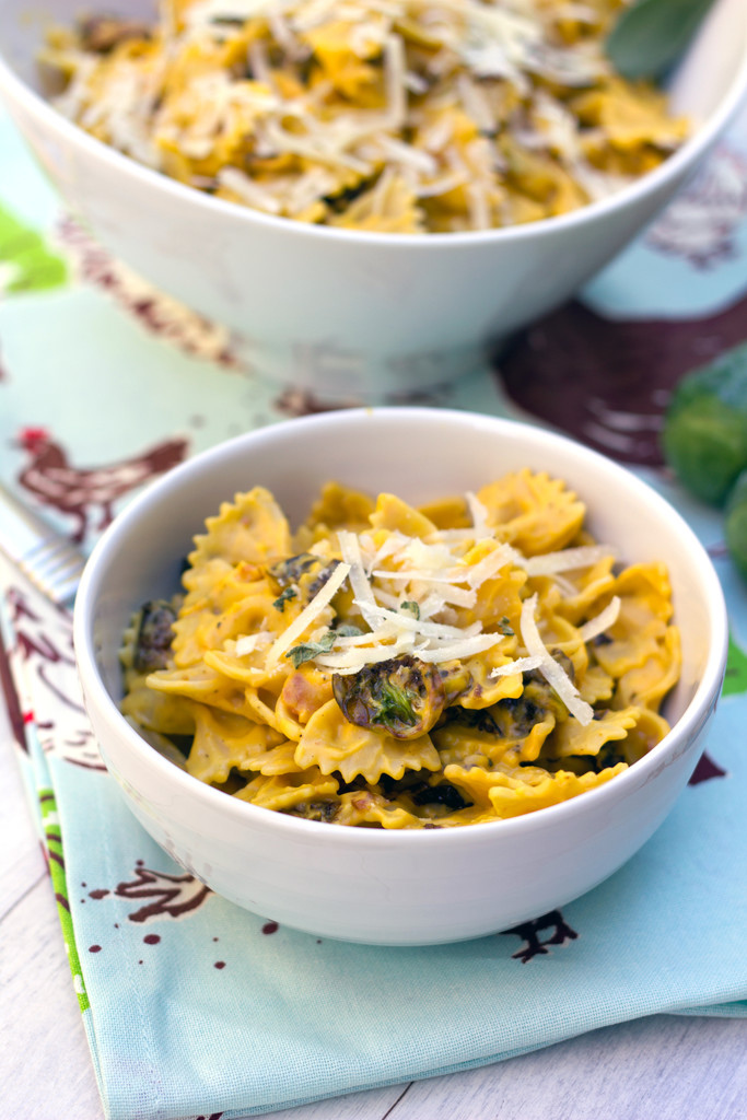 Butternut Squash Pasta with Fried Brussels Sprouts and Pancetta 15