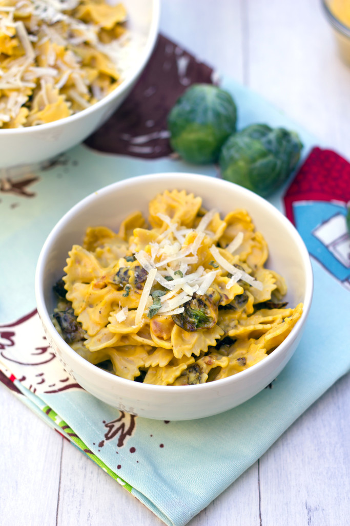 Butternut Squash Pasta with Fried Brussels Sprouts and Pancetta 5