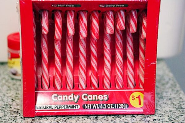 Package of candy canes for $1