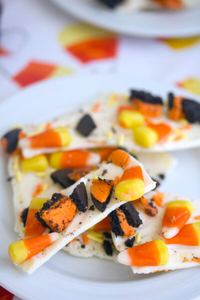 Candy Corn Candy Bark | wearenotmartha.com